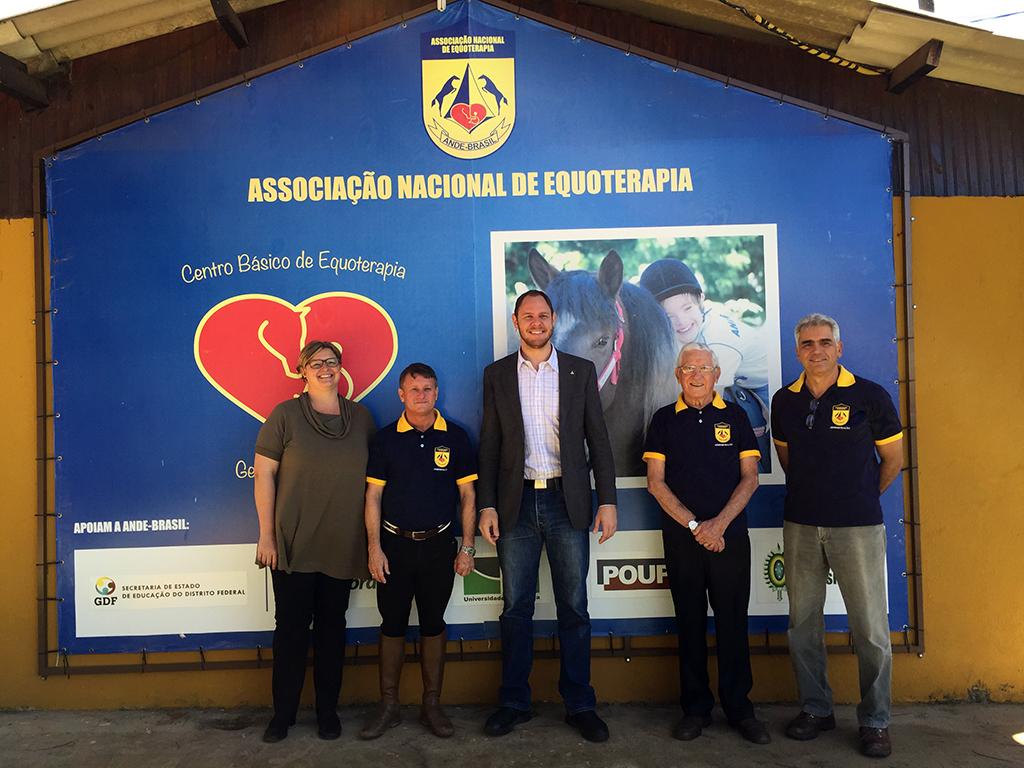 Visita do administrador de Brasília